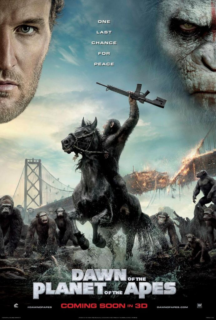 Dawn Of The Planet of The Apes 2014 movie poster
